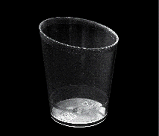 small plastic glass 60cc