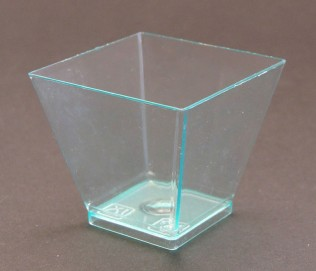 Transparent Square Plastic Bowl